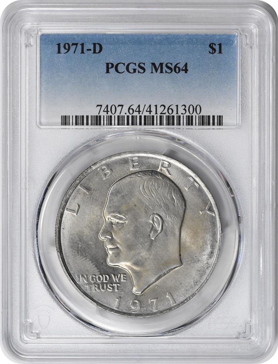1971-D Eisenhower Dollar MS64 PCGS