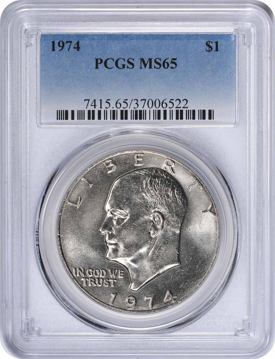 1974 Eisenhower Dollar, MS65, PCGS