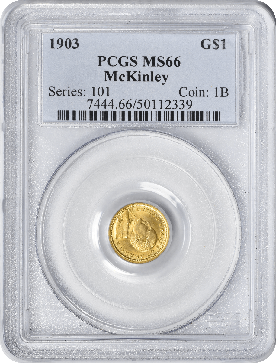 1903 LA Purchase - McKinley $1 Gold, MS66, PCGS