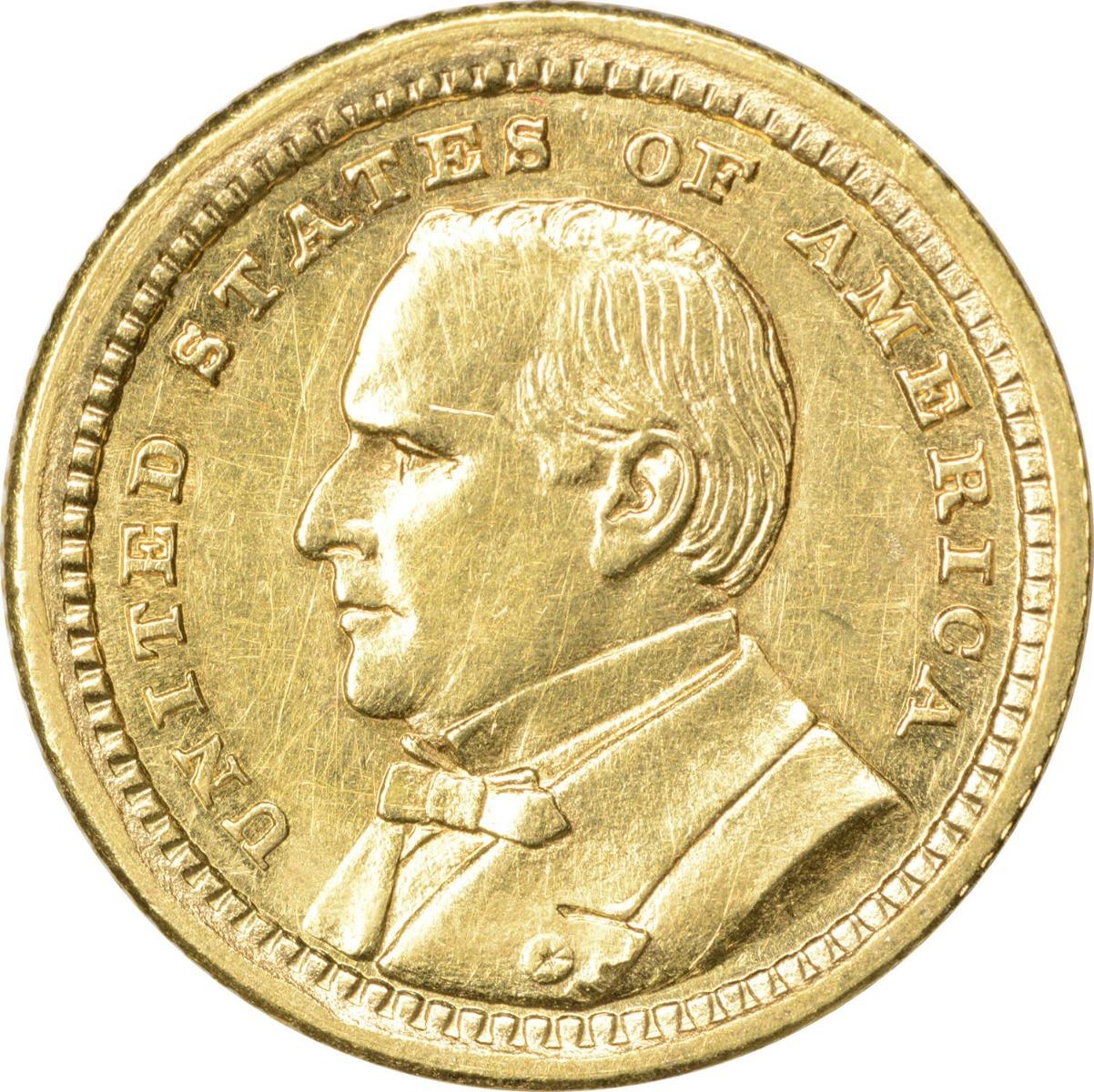 1903 LA Purchase-McKinley $1 Gold, AU, Uncertified