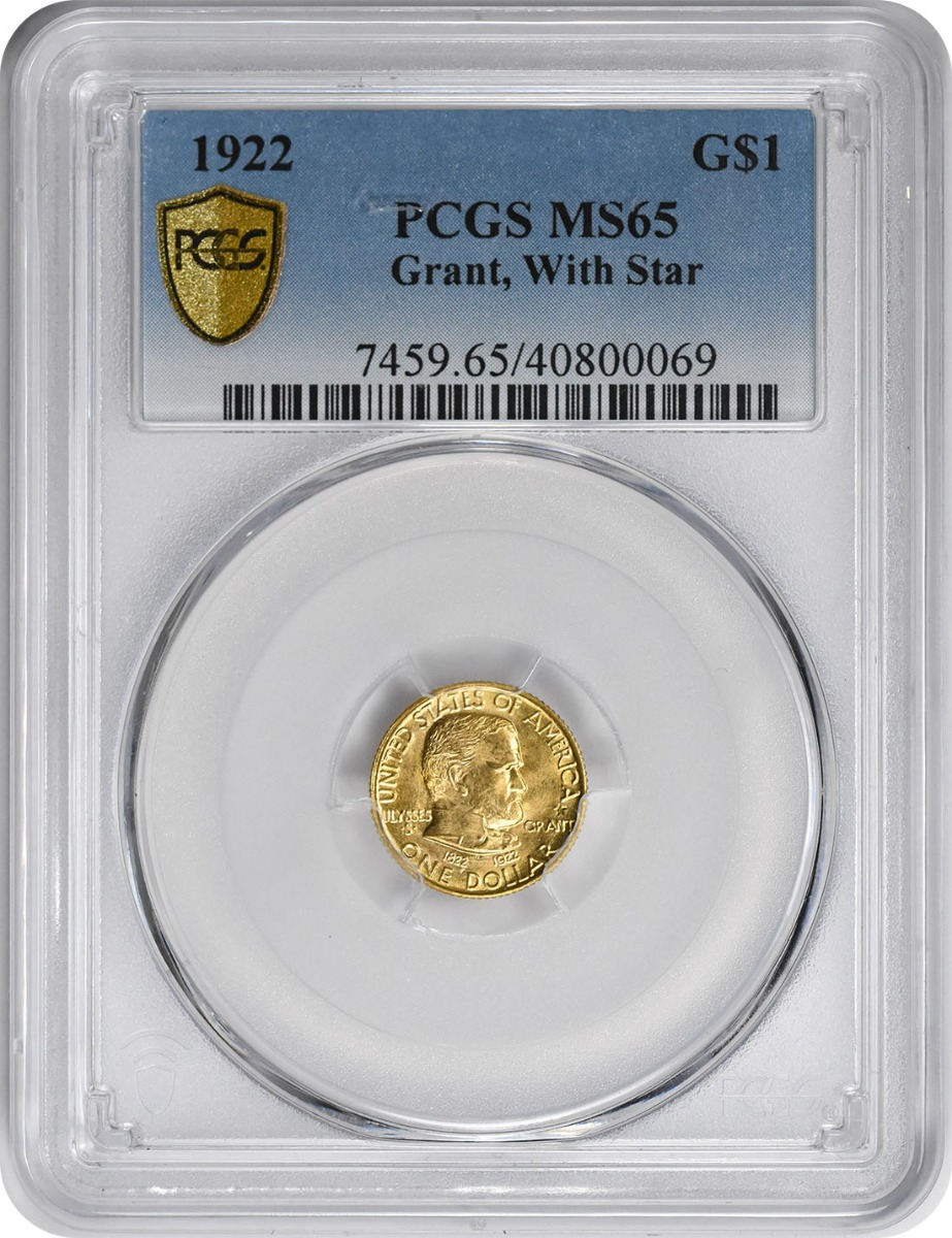 1922 Grant With Star $1 Gold MS65 PCGS