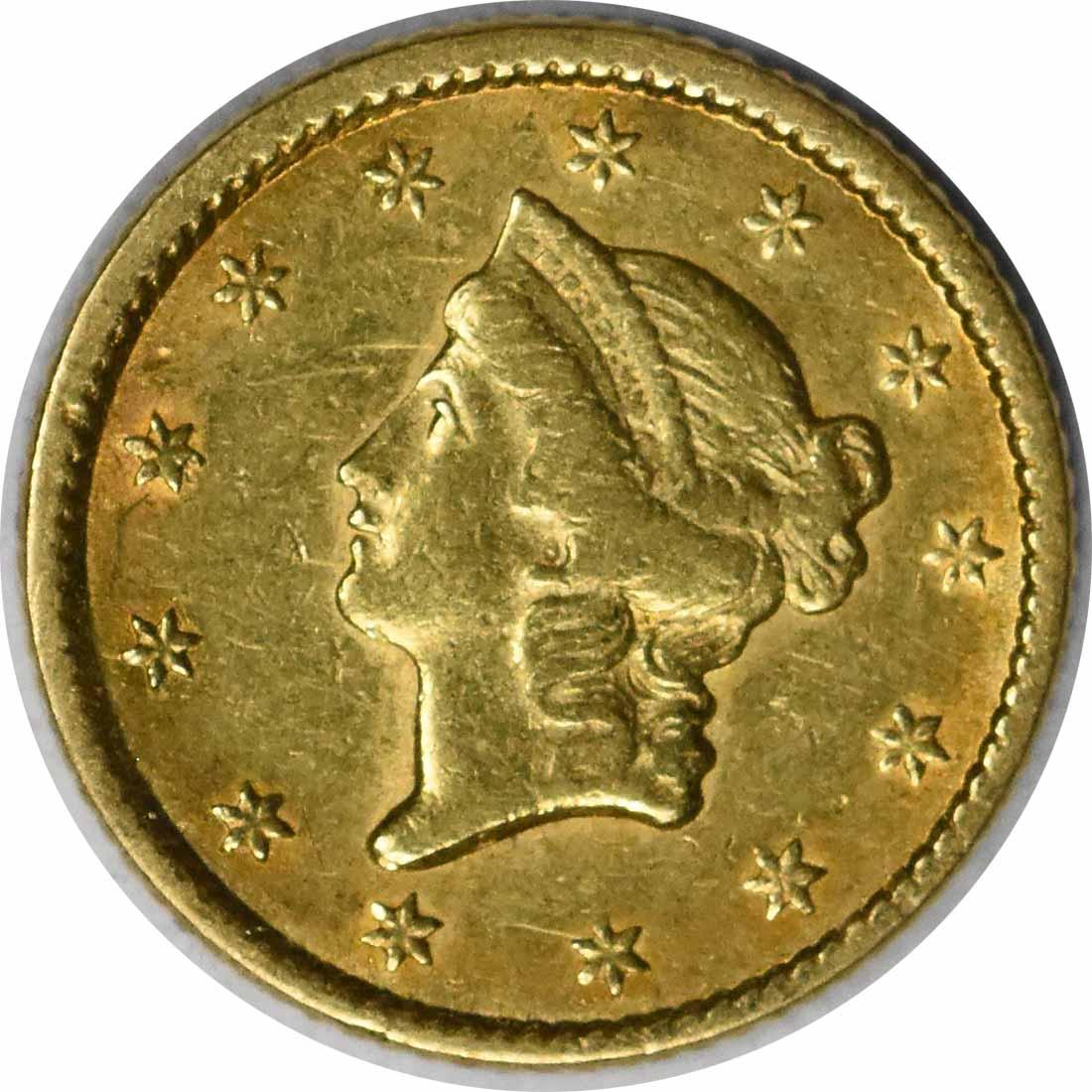 1851 $1 Gold Type 1 EF Uncertified