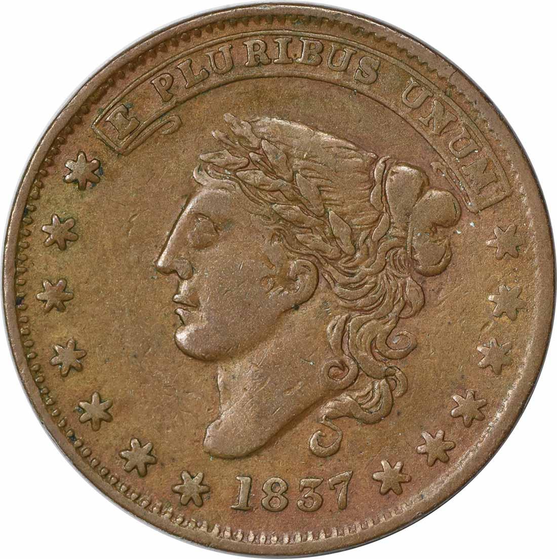 1837 Hard Times Token, L31, HT46, EF, Uncertified