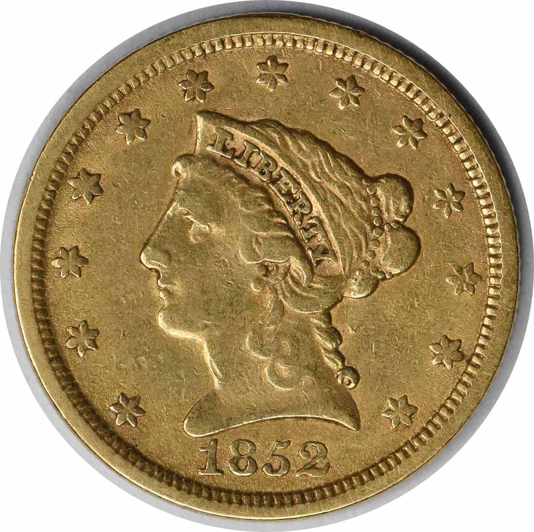 1852 $2.50 Gold Liberty Head EF Uncertified