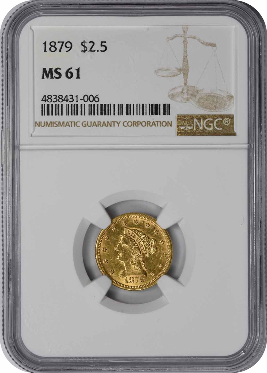 1879 $2.50 Gold MS61 NGC Liberty