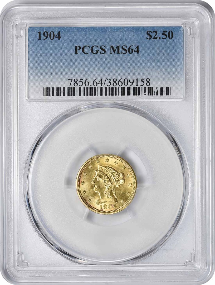 1904 $2.50 Gold MS64 PCGS Liberty
