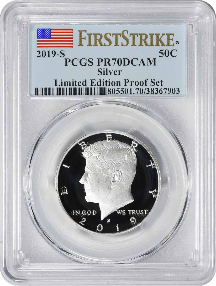 2019-S Kennedy Silver Half Dollar Limited Edition Silver Proof Set PR70DCAM First Strike PCGS