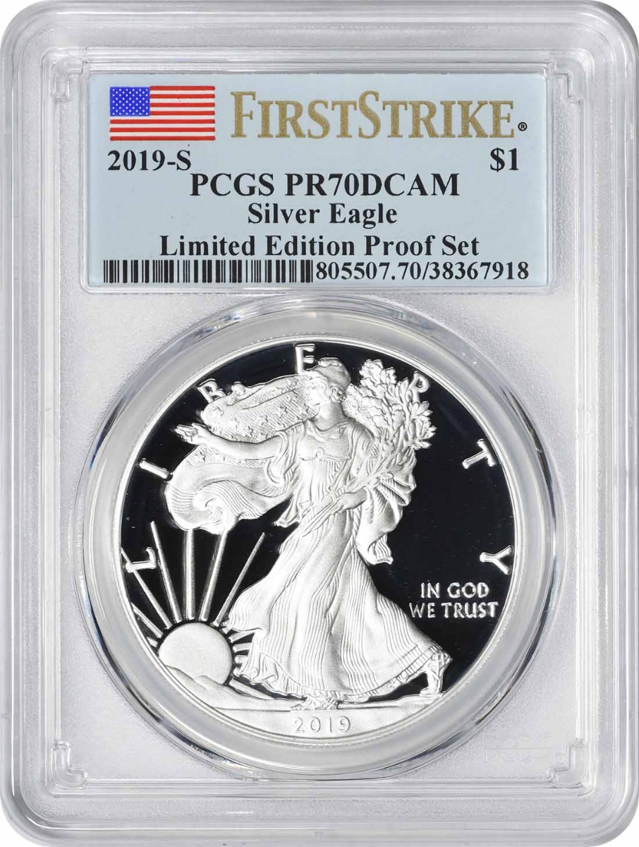 2019-S $1 American Silver Eagle Limited Edition Silver Proof Set PR70DCAM First Strike PCGS