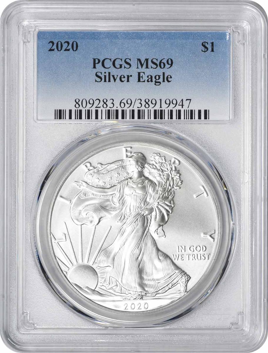 2020 $1 American Silver Eagle MS69 PCGS