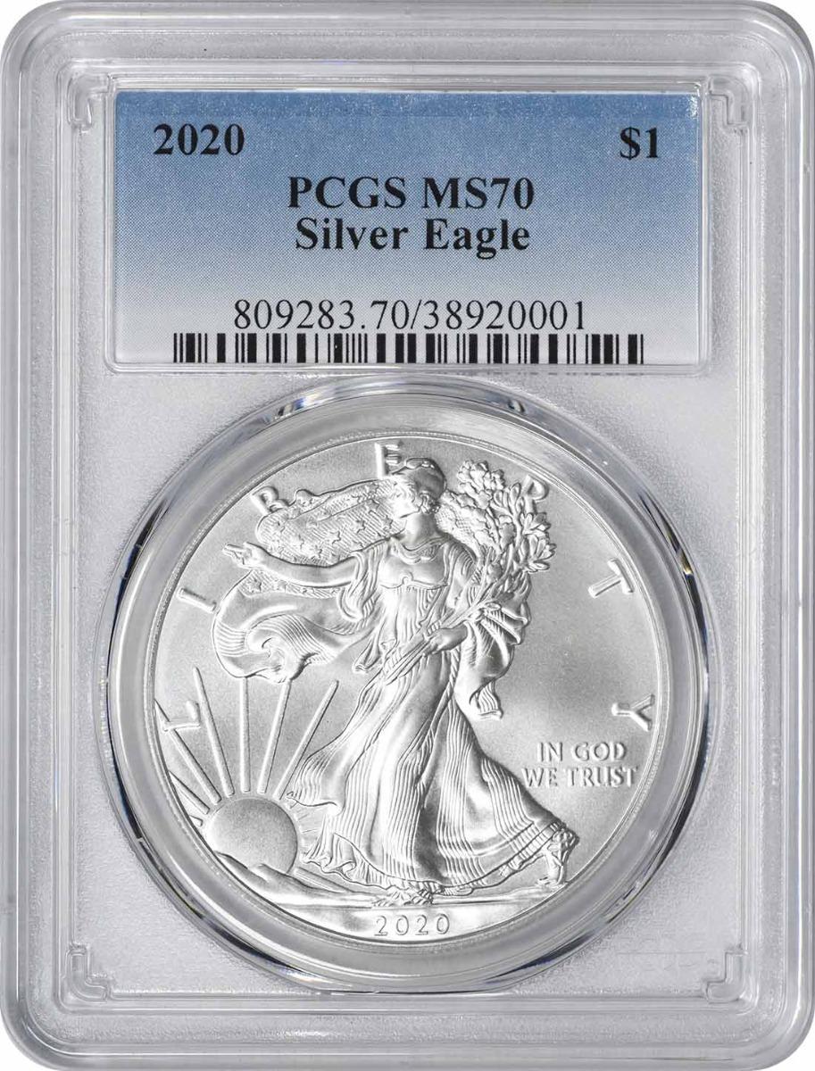 2020 $1 American Silver Eagle MS70 PCGS