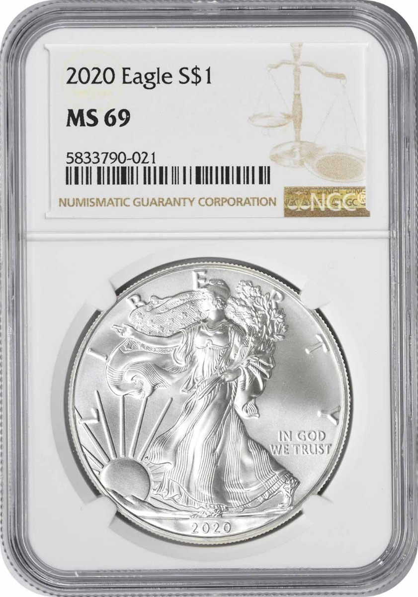 2020 $1 American Silver Eagle MS69 NGC