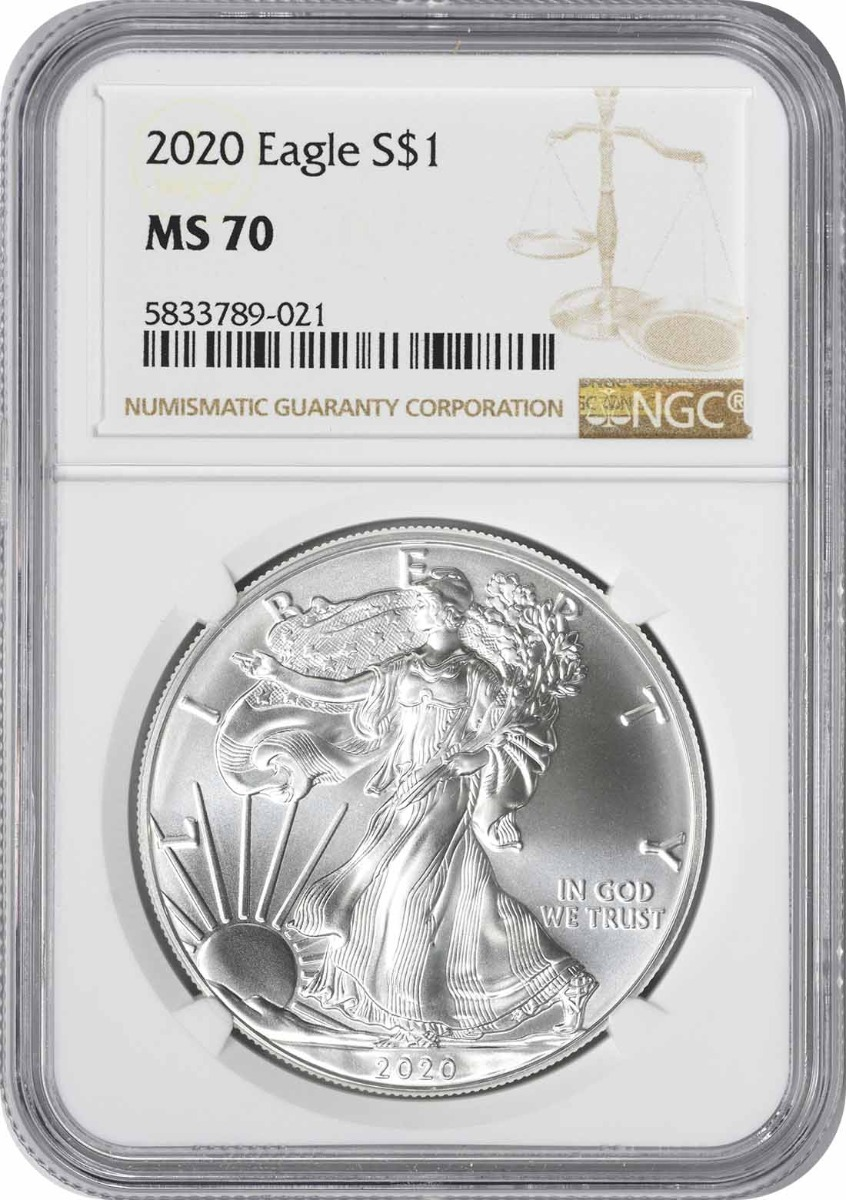 2020 $1 American Silver Eagle MS70 NGC