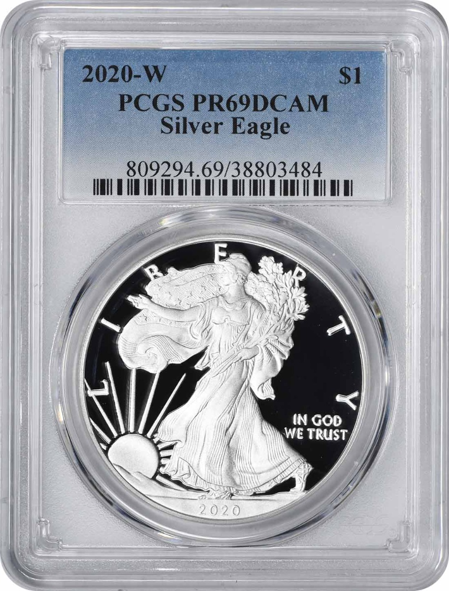 2020-W $1 American Silver Eagle PR69DCAM PCGS