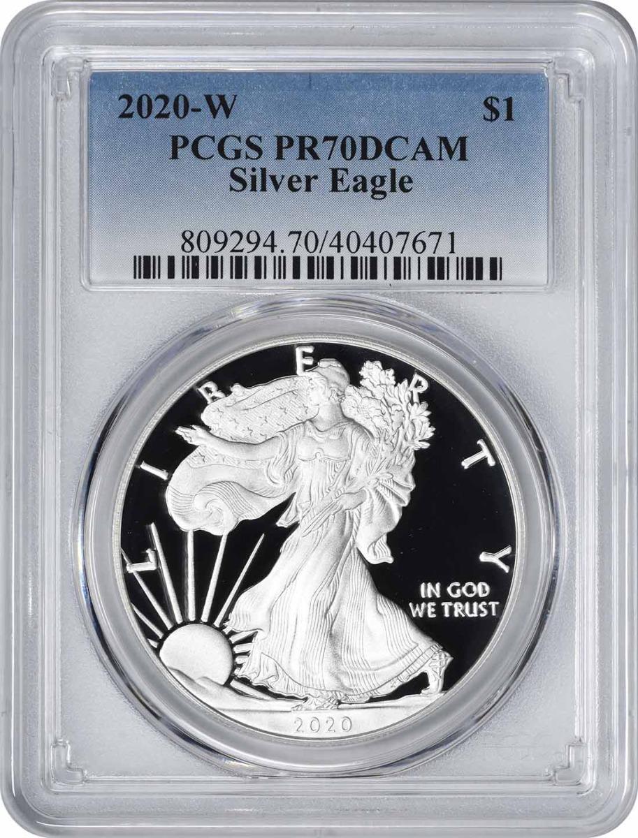 2020-W $1 American Silver Eagle PR70DCAM PCGS