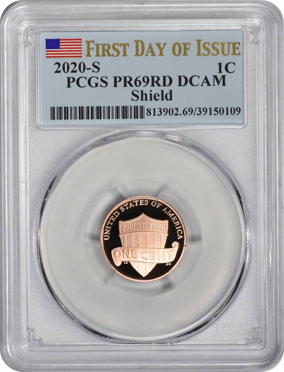 2020-S Lincoln Cent PR69RD DCAM First Day of Issue PCGS