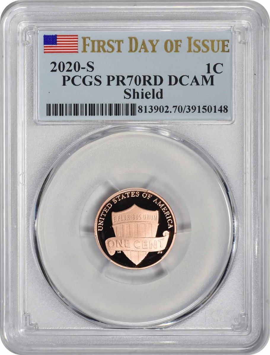 2020-S Lincoln Cent PR70RD DCAM First Day of Issue PCGS