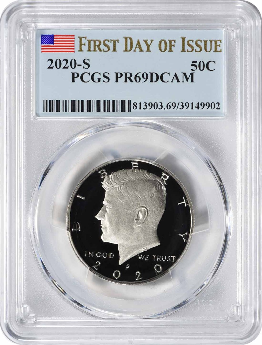 2020-S Kennedy Clad Half Dollar PR69DCAM First Day of Issue PCGS