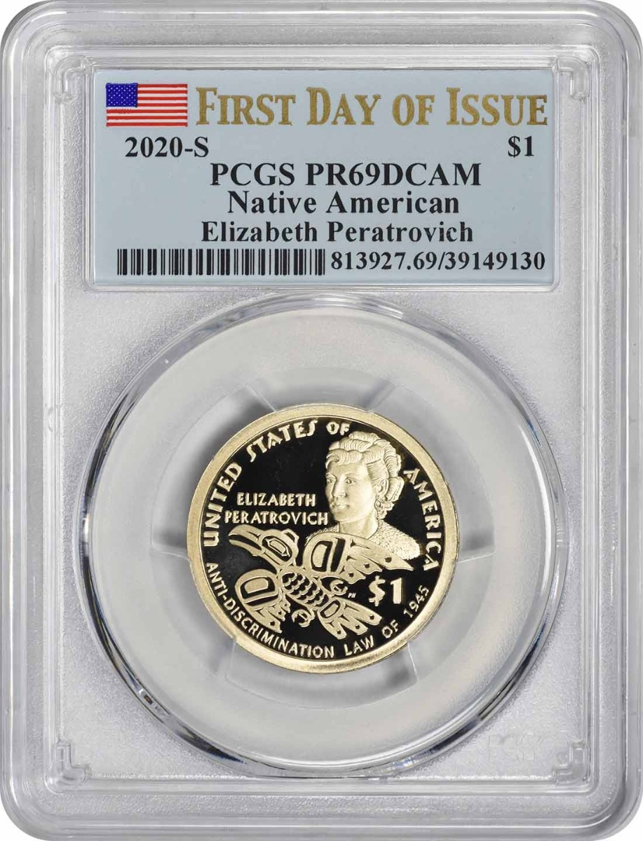 2020-S Sacagawea Native American Dollar PR69DCAM First Day of Issue PCGS
