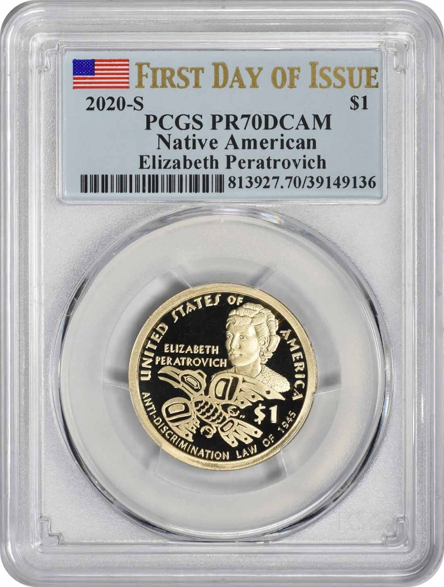 2020-S Sacagawea Native American Dollar PR70DCAM First Day of Issue PCGS