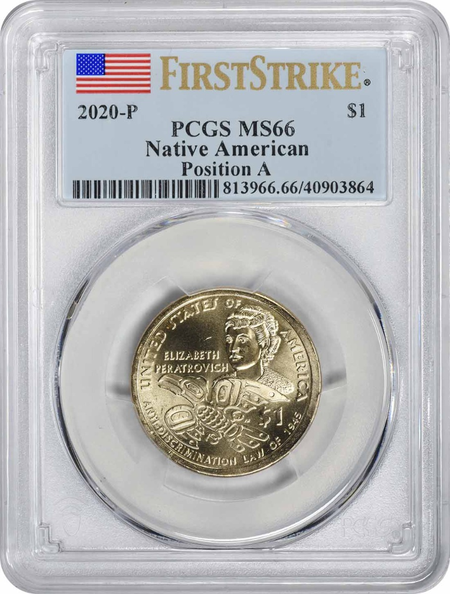 2020-P Native American Sacagawea Dollar Position A MS66 First Strike PCGS