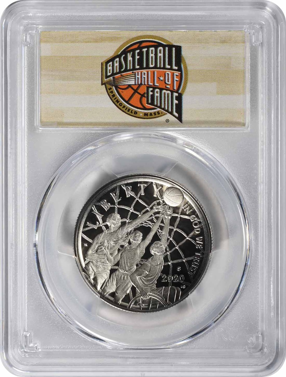 2020-S Basketball Hall of Fame Commemorative Half Dollar PR70DCAM First Strike PCGS (HOF Label)