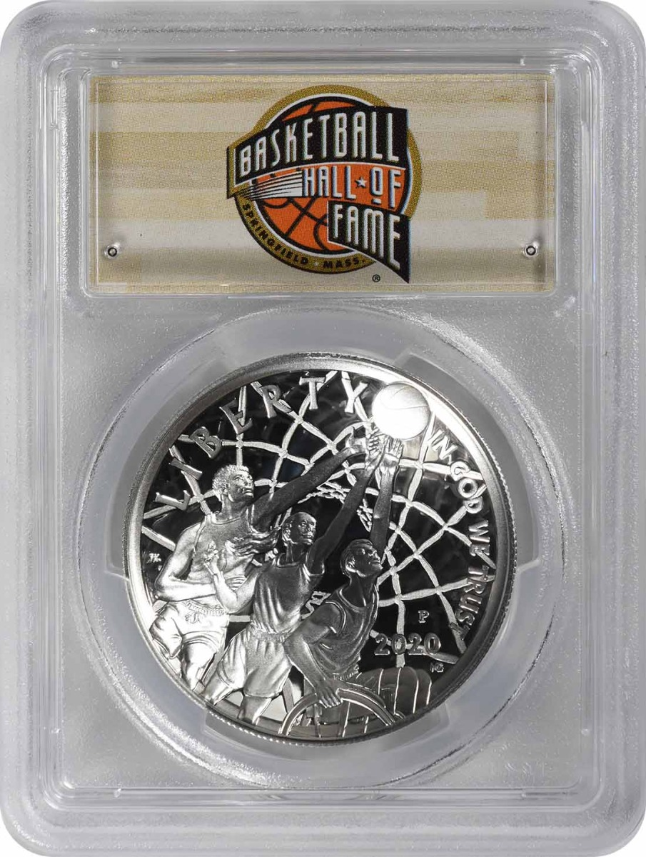 2020-P Basketball Hall of Fame Commemorative Silver Dollar PR69DCAM First Strike PCGS (HOF Label)