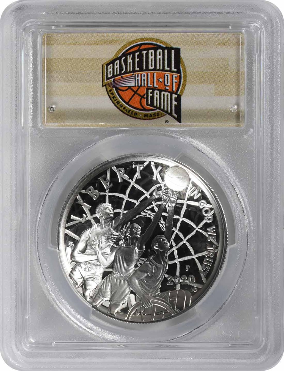 2020-P Basketball Hall of Fame Commemorative Silver Dollar PR70DCAM First Strike PCGS (HOF Label)
