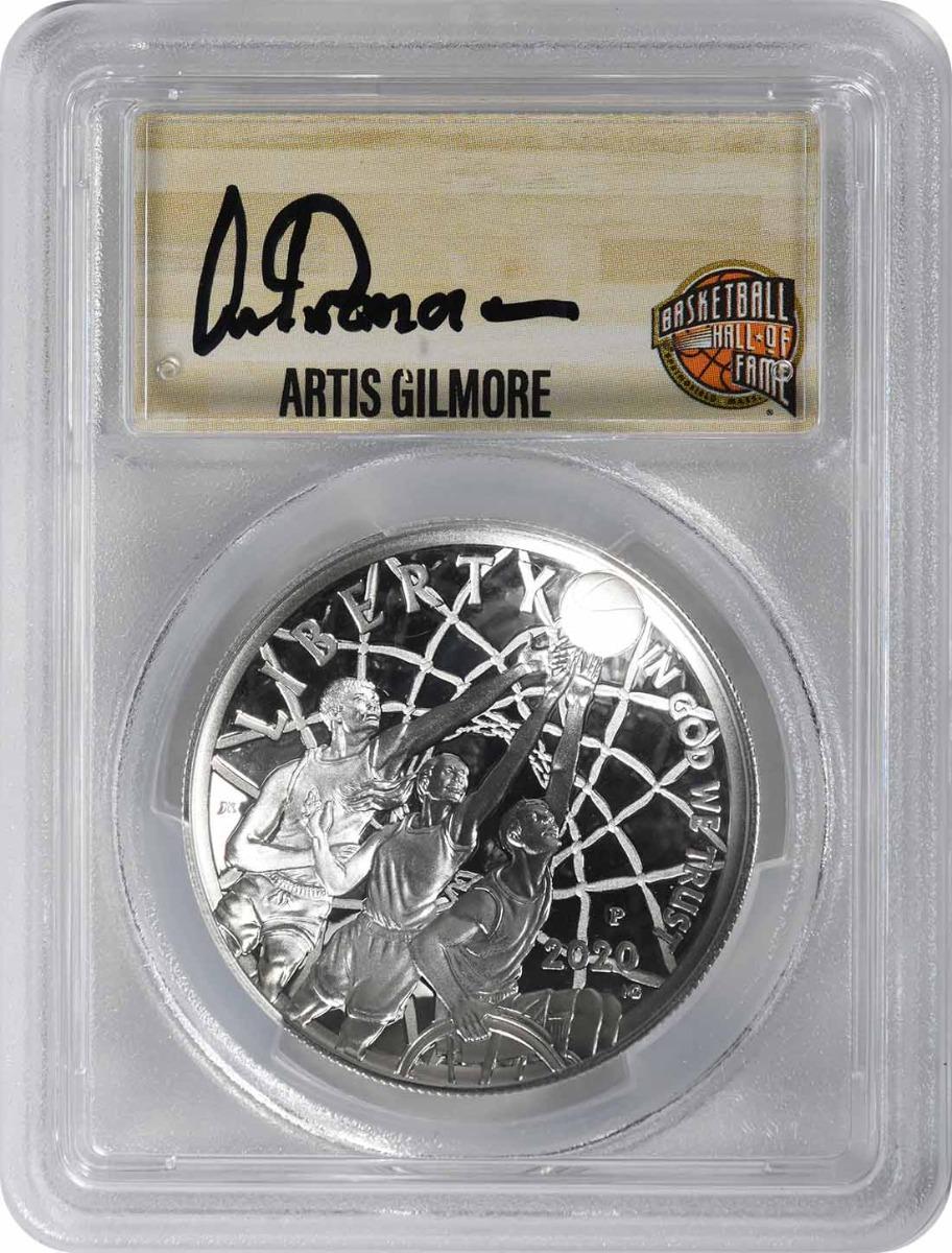 2020-P Basketball Hall of Fame Commemorative Silver Dollar PR70DCAM First Strike PCGS (Artis Gilmore Signature)