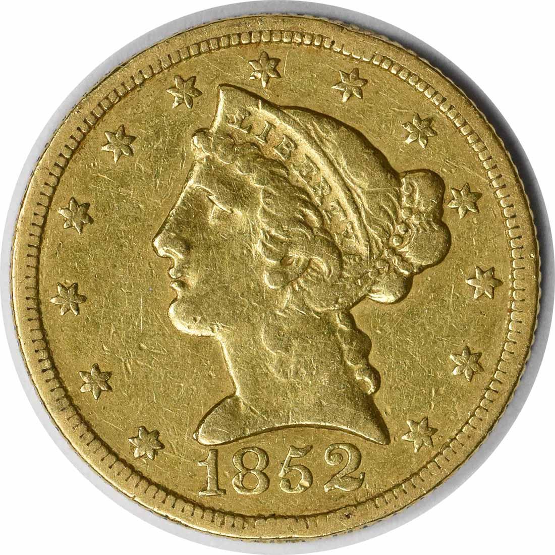 1852-C $5 Gold Liberty EF Uncertified