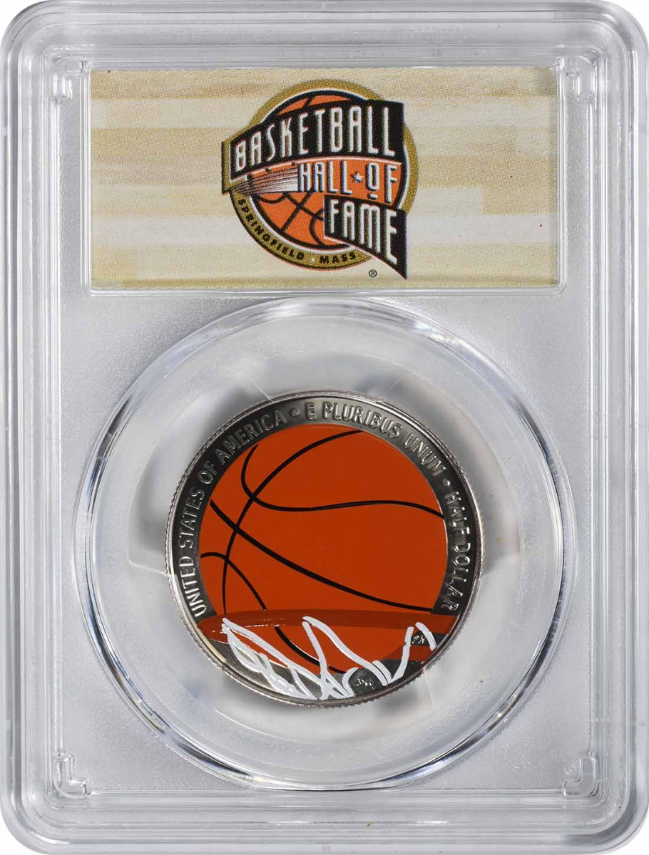 2020-S Basketball Hall of Fame Commemorative Half Dollar 1st Official Colorized U.S. Coins PR70DCAM First Strike PCGS (HOF Label)
