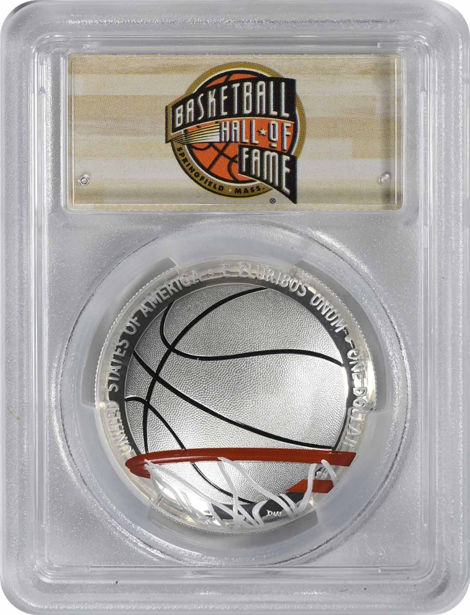 2020-P Basketball Hall of Fame Commemorative Silver Dollar 1st Official Colorized U.S. Coins PR70DCAM First Strike PCGS (HOF Label)