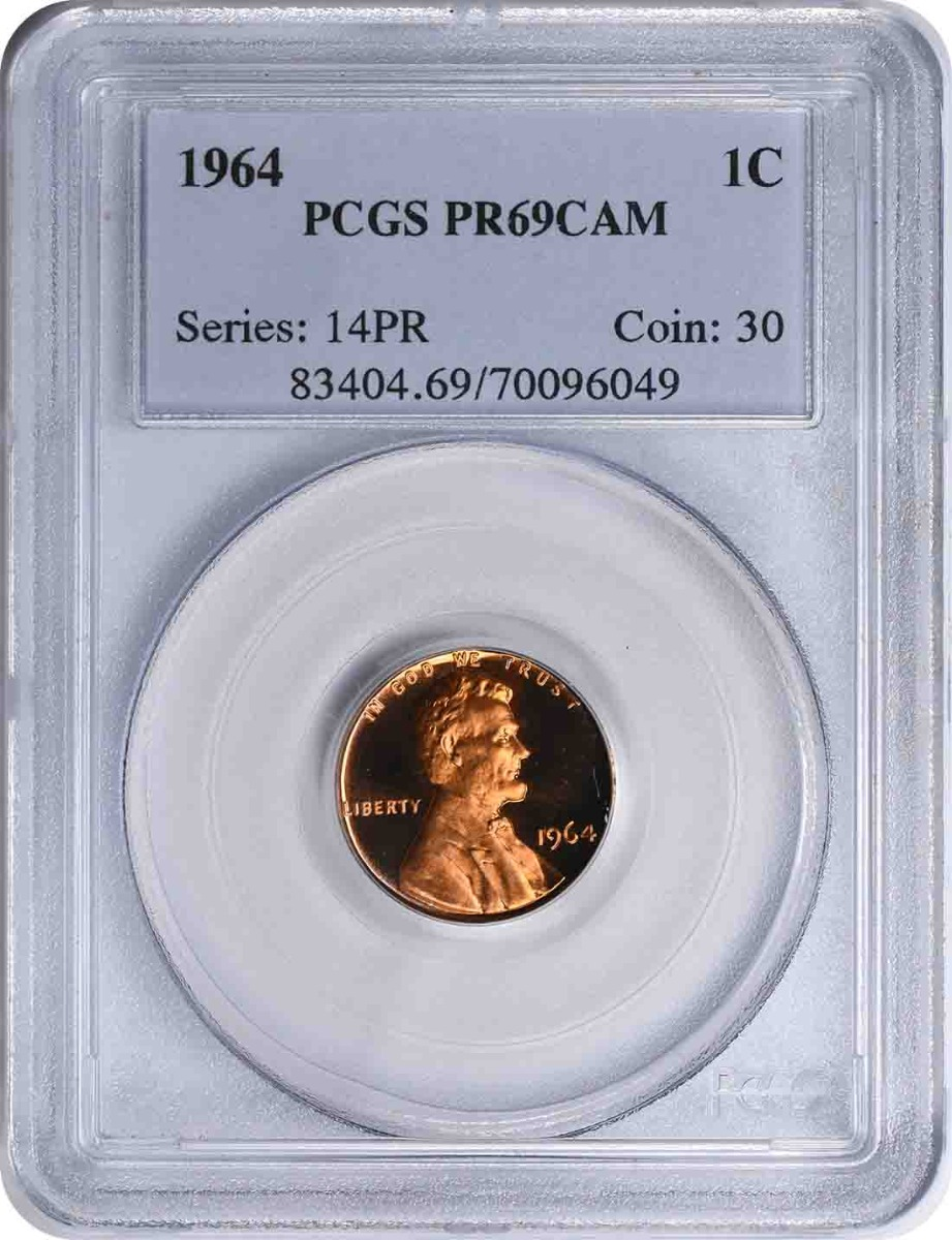1964 Lincoln Cent PR69CAM PCGS