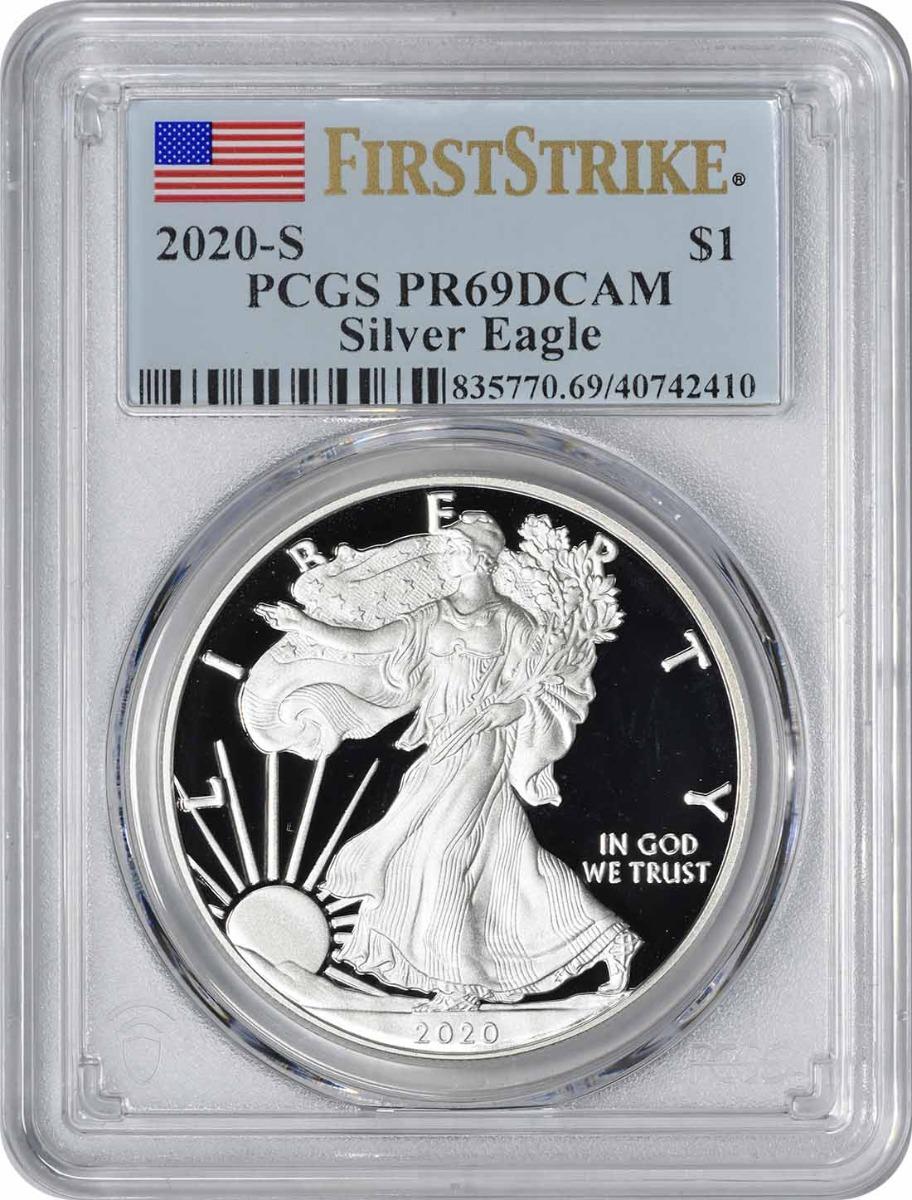 2020-S $1 American Silver Eagle PR69DCAM First Strike PCGS