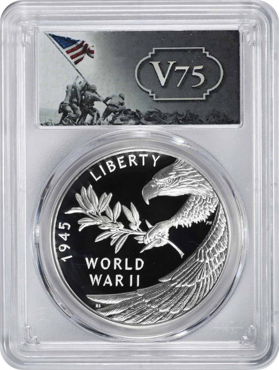 (2020) End of World War II 75th Anniversary Silver Medal PR69DCAM PCGS