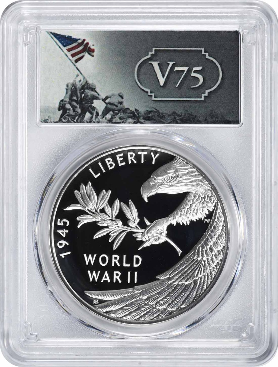 (2020) End of World War II 75th Anniversary Silver Medal PR70DCAM PCGS