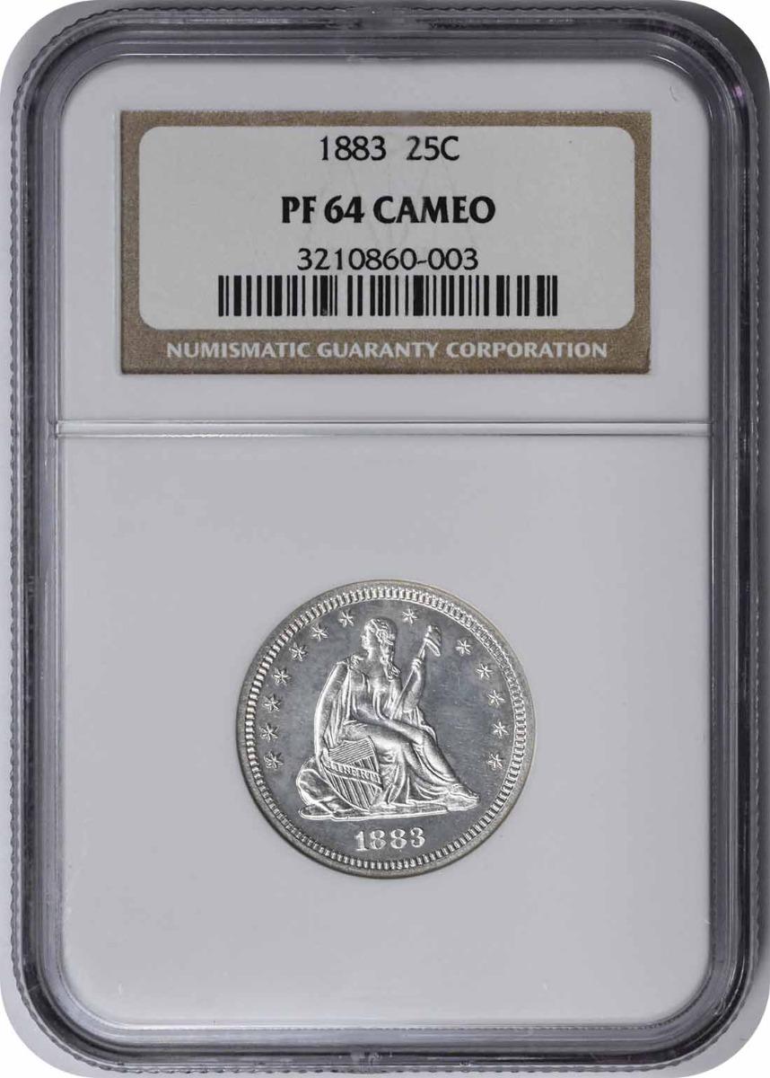 1883 Liberty Seated Silver Quarter PR64CAM NGC