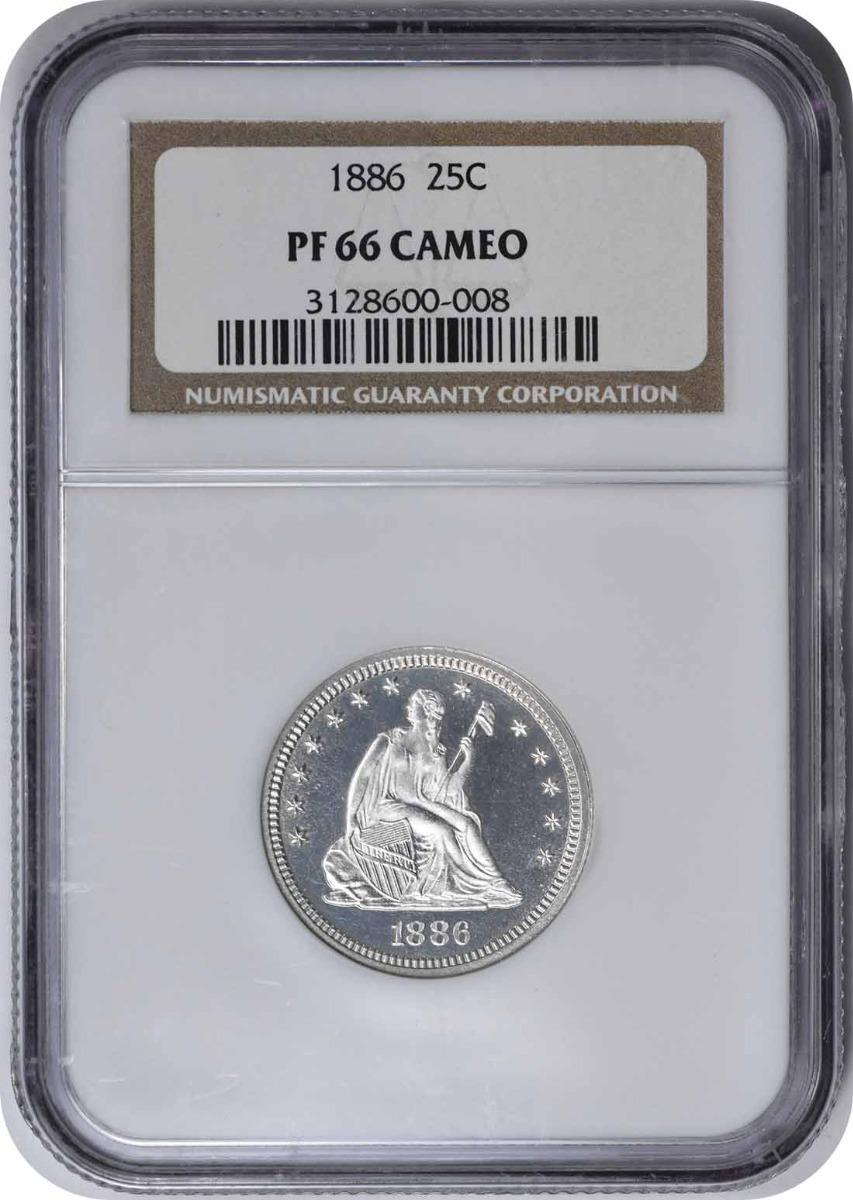 1886 Liberty Seated Silver Quarter PR66CAM NGC