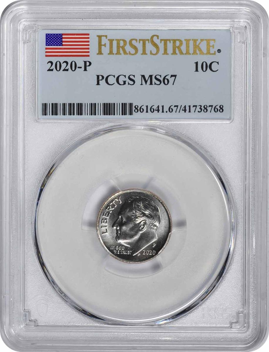 2020-P Roosevelt Dime MS67 First Strike PCGS