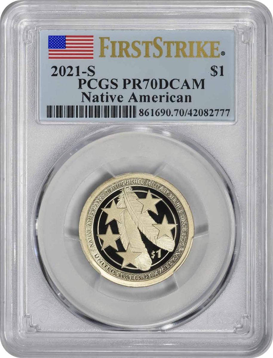 2021-S Sacagawea Native American Dollar PR70DCAM First Strike PCGS