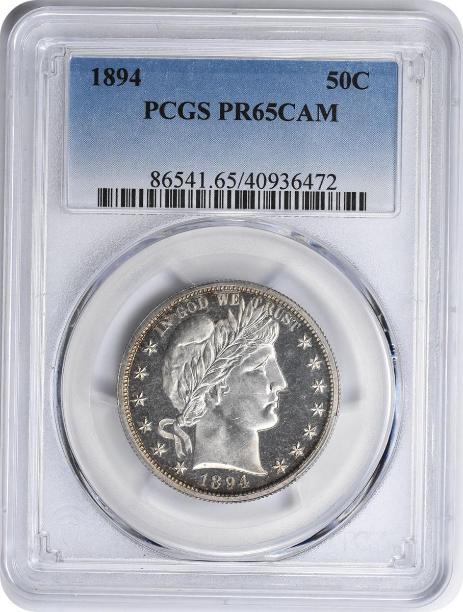 1894 Barber Silver Half Dollar PR65CAM PCGS