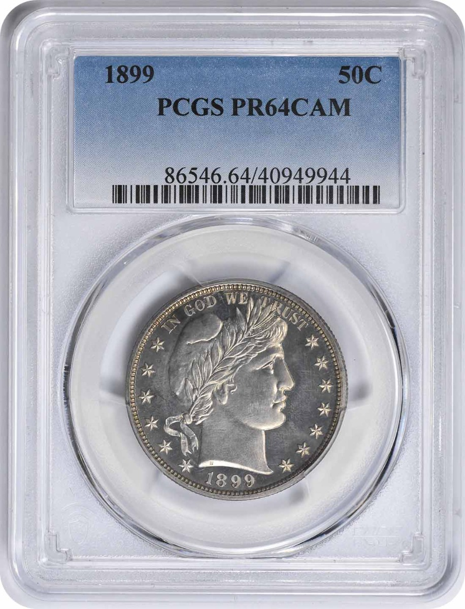 1899 Barber Silver Half Dollar PR64CAM PCGS
