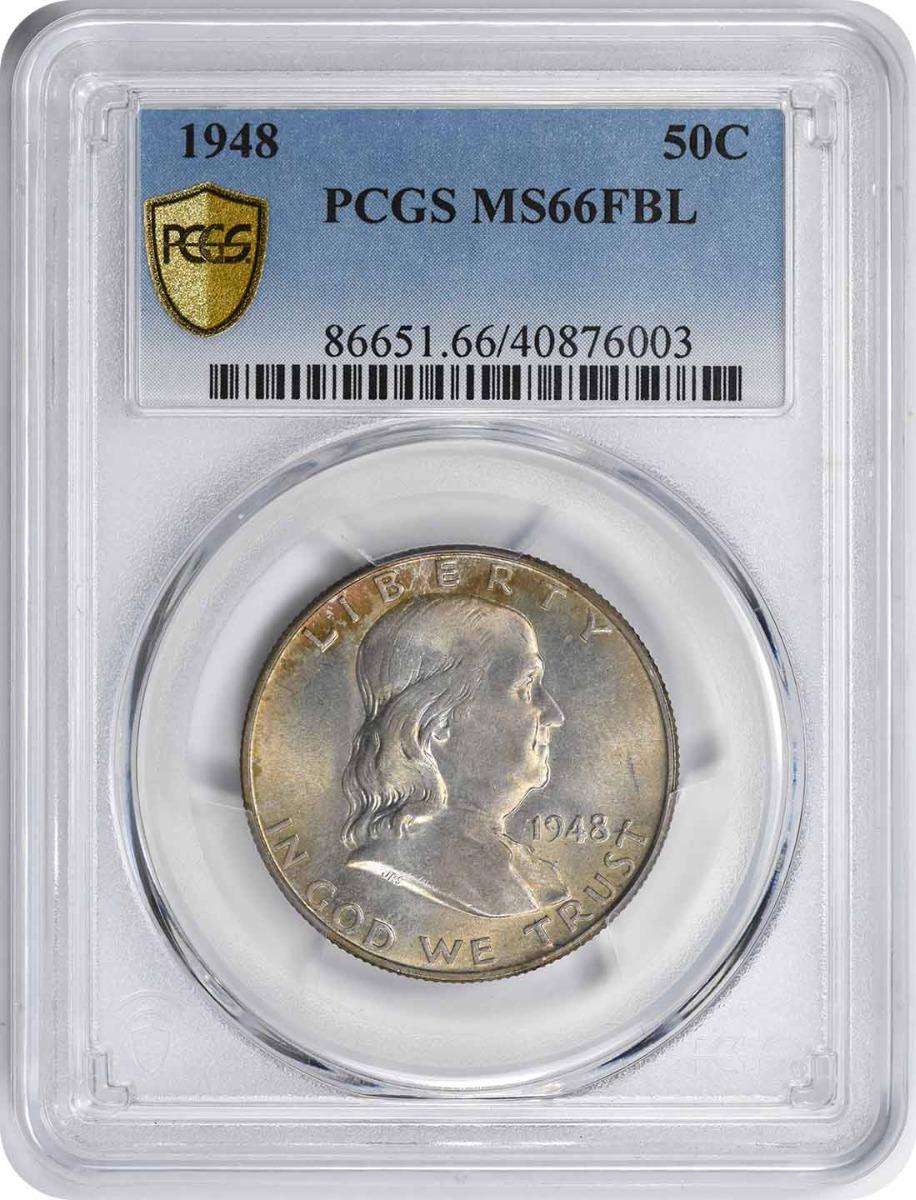 1948 Franklin Silver Half Dollar MS66FBL PCGS