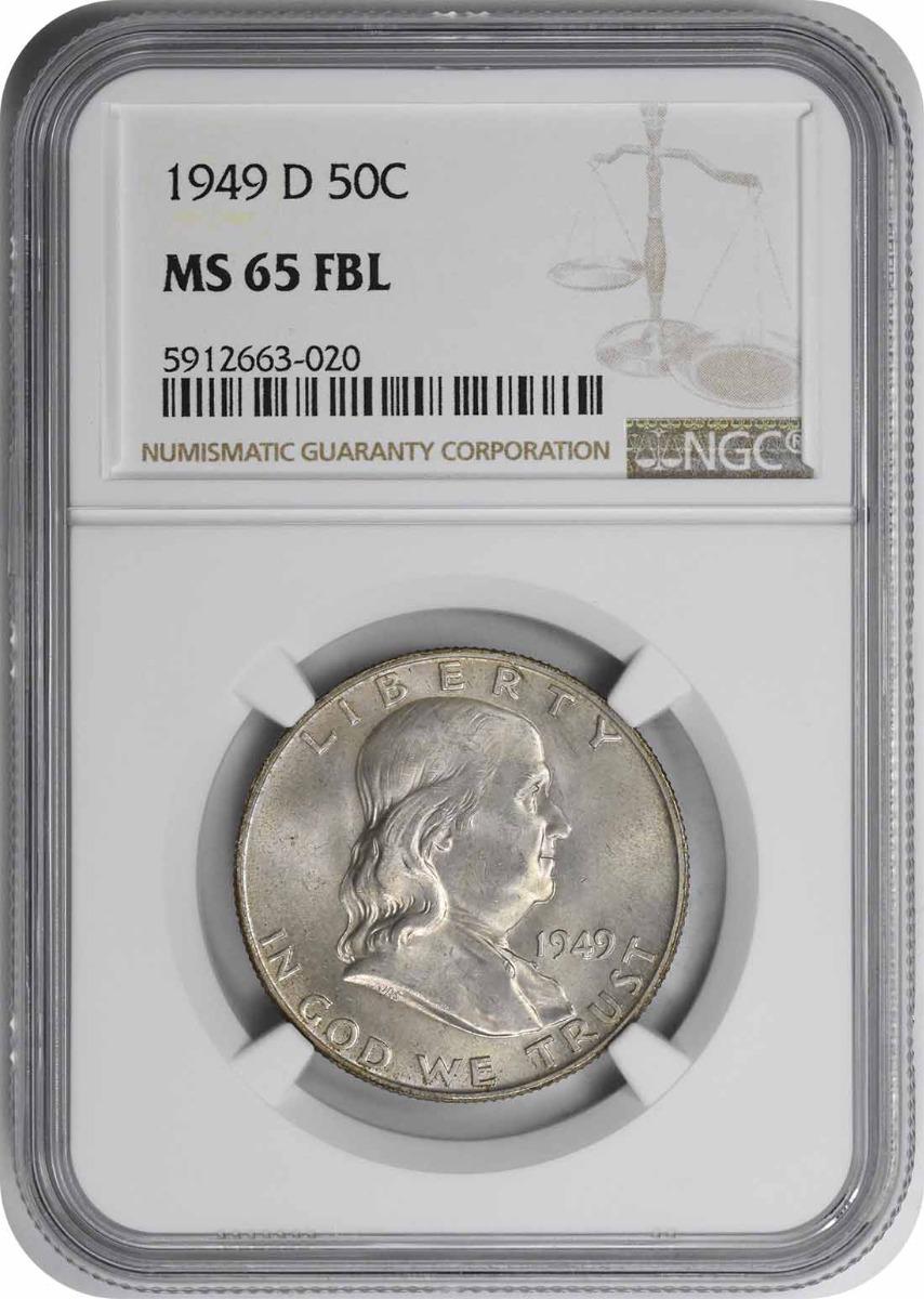 1949-D Franklin Half Dollar MS65FBL NGC