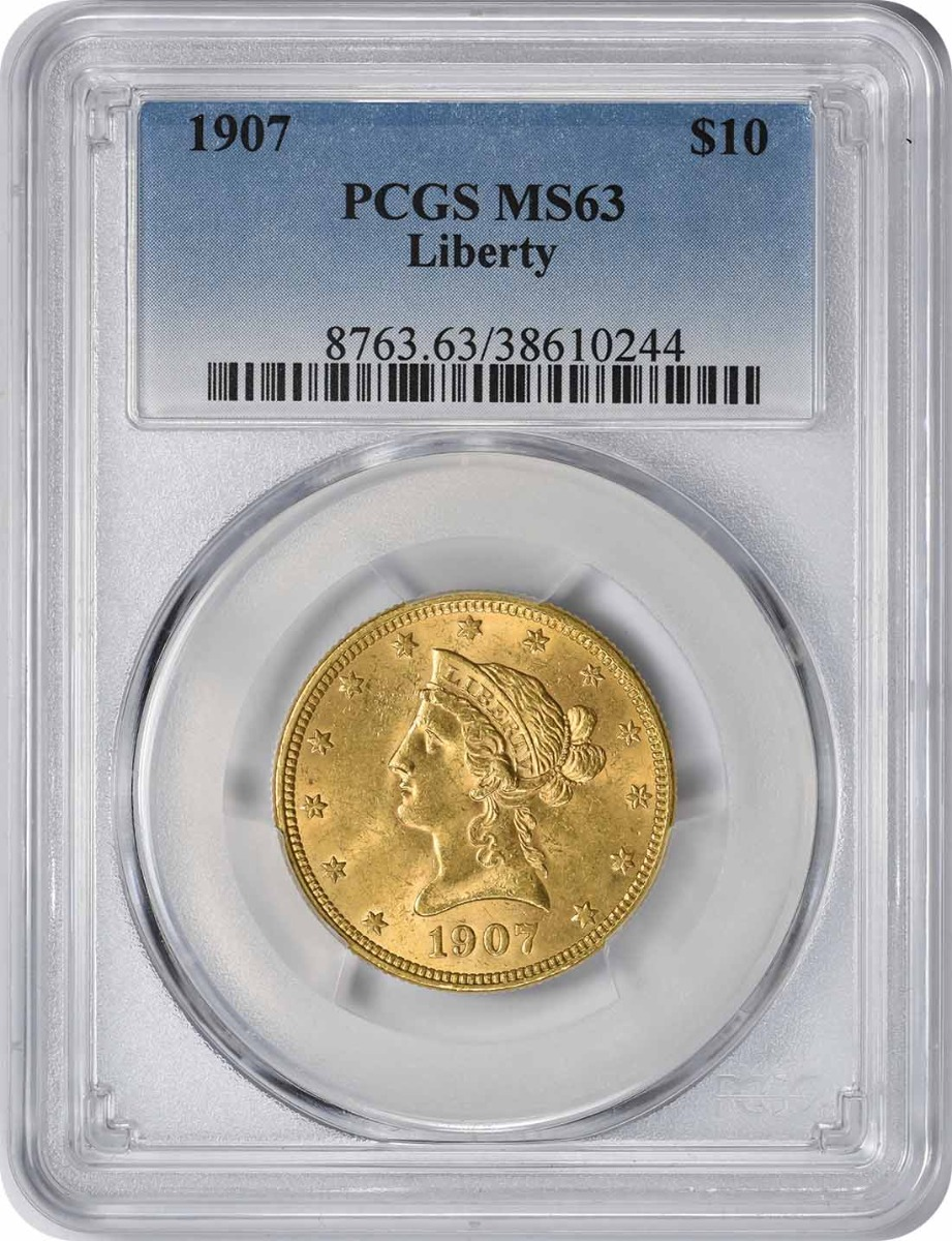 1907 $10 Gold MS63 PCGS Liberty