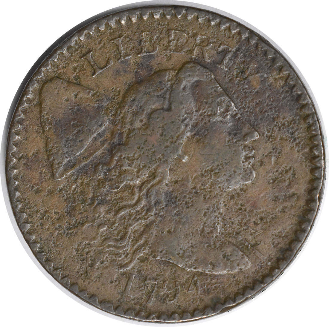 1794 Large Cent Head of 1794 VF (Corrosion) Uncertified