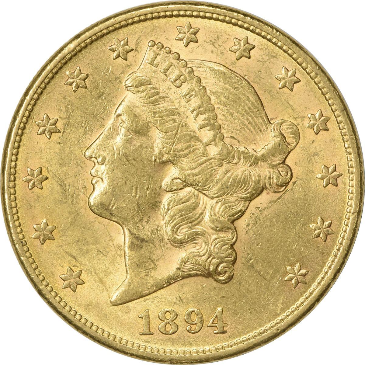 1894 $20 Gold Liberty Head AU58 Uncertified