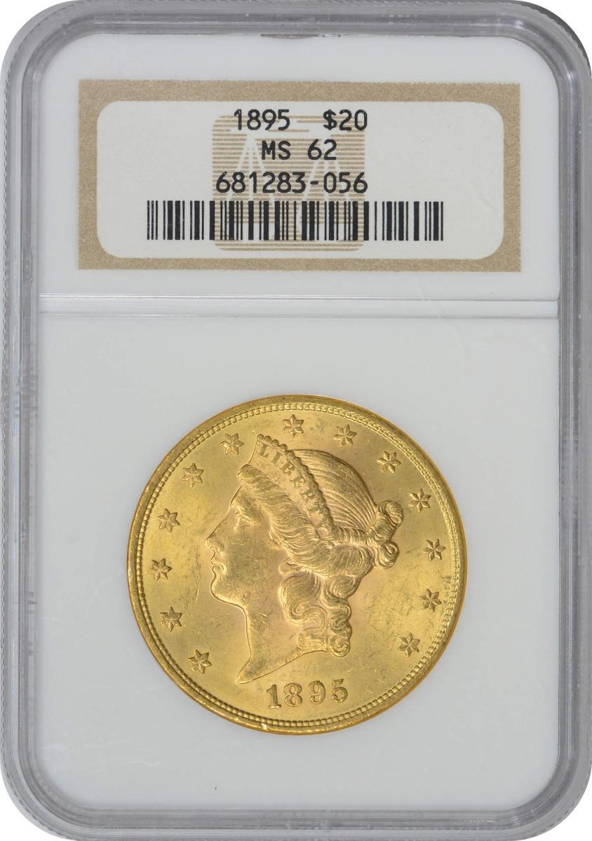 1895 $20 Gold Liberty Head MS62 NGC
