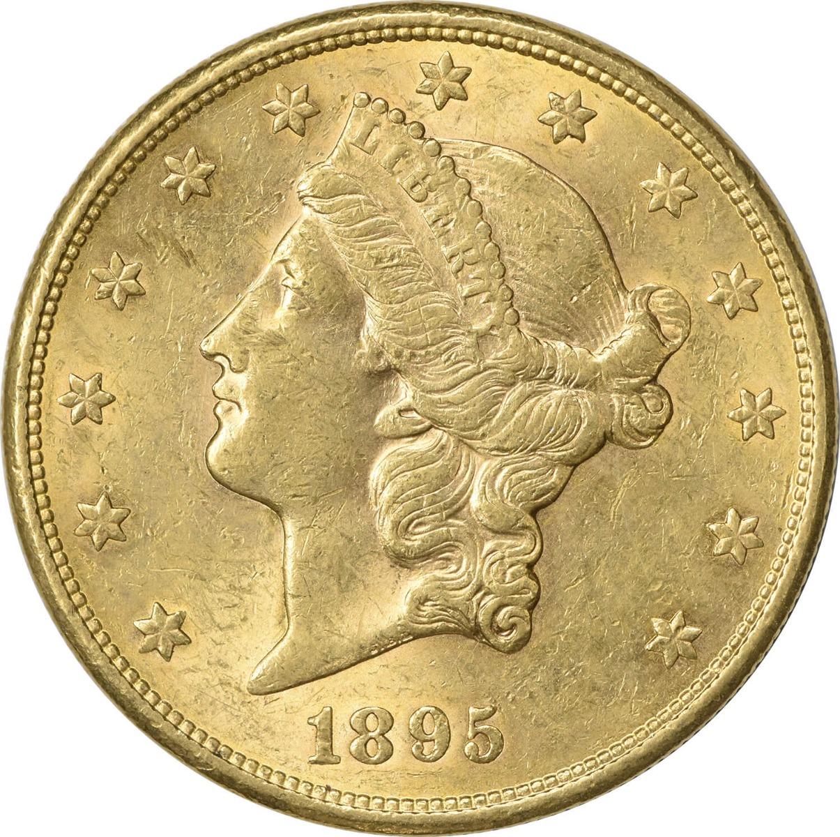 1895-S $20 Gold Liberty Head AU58 Uncertified