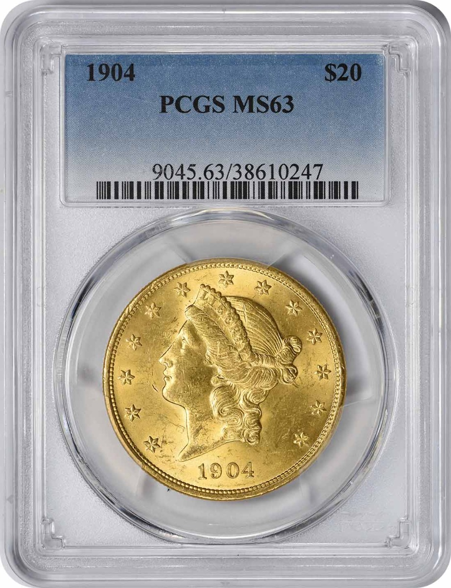 1904 $20 Gold MS63 PCGS Liberty