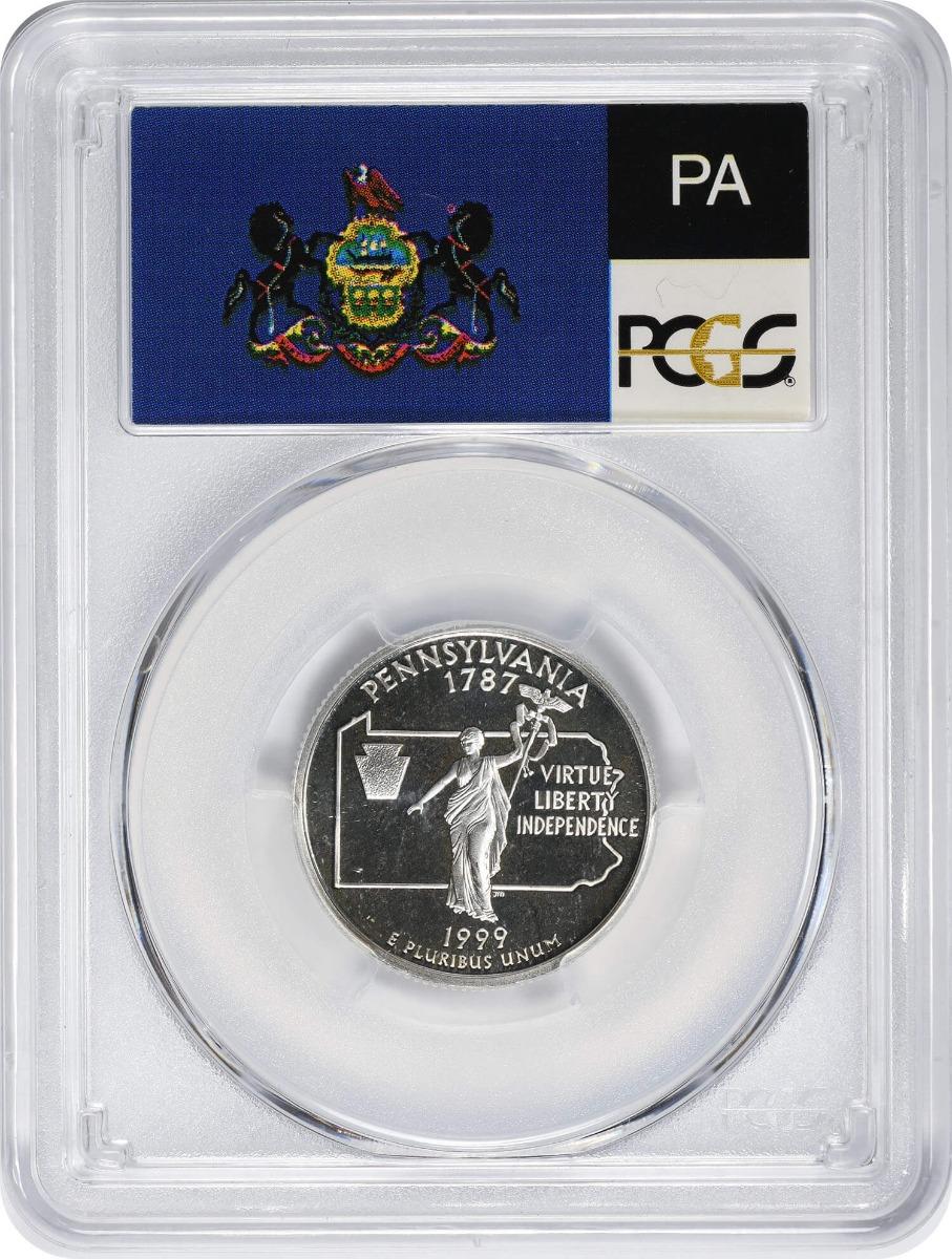 1999-S Pennsylvania State Quarter, PR69DCAM, Silver, PCGS